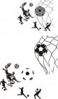 【CX-379】踢足球 矢量图