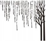 【CX-390】柳枝 树  矢量图