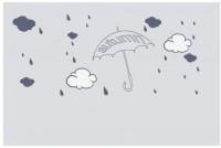【CX-355】雨伞 雨滴 白云 雨滴 矢量图