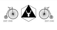 【CX-381】鹿头 车轮 est1940  矢量图