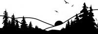 【CX-416】山水 太阳 小鸟 矢量图