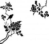 【CX-442】牡丹 小鸟  矢量图