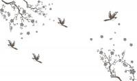 【CX-432】梅花小鸟 喜鹊  矢量图