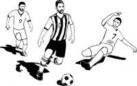 【CX-401】踢足球 运动员  矢量图