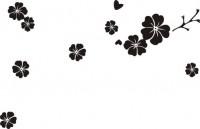 【CX-464】五瓣心形花 散花   矢量图