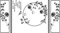 【CX-542】花藤 边框 圆形花  矢量图