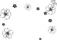 【CX-455】五瓣散花  矢量图