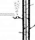 【CX-531】三棵树 小鸟 爱心 心形 英文  矢量图