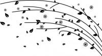 【CX-527】多瓣花 花藤 矢量图
