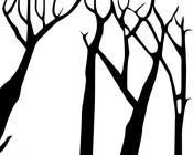【CX-526】四棵树 矢量图