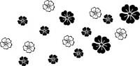 【CX-525】五瓣花 五瓣心形花  矢量图